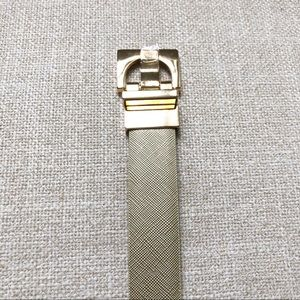 Anne Klein Accessories - NWT Anne Klein Gold/Cognac Reversible Belt